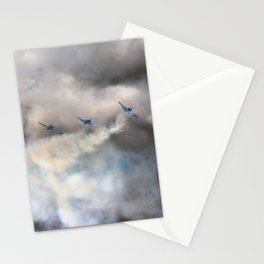 Blue airplanes Stationery Cards