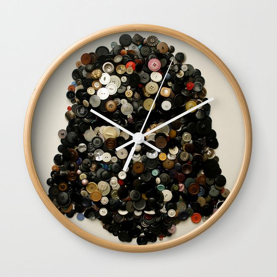 Darth Buttons Wall Clock