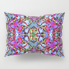 Multicolored Abstract Collage Pattern Pillow Sham