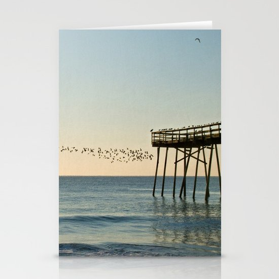 Oceanic Pier & Birds Stationery Cards