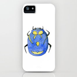 Blue and yellow insect   Entomology shirt iPhone Case