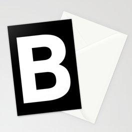 Letter B (White & Black) Stationery Cards