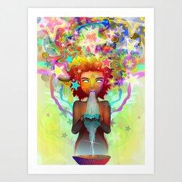 Agua de Estrella Art Print