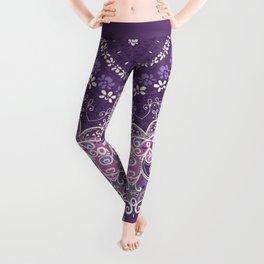 Purple Lace Mandala Leggings