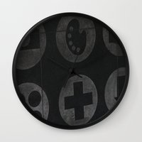 wallpaper Wall Clocks featuring wallpaper by IGNOBOT