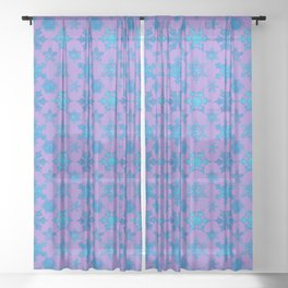 White Winter Hymnal Sheer Curtain