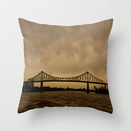 Pont JacquesCartier Throw Pillow