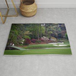 Amen Corner Golf - Golfers on Bridge Rug