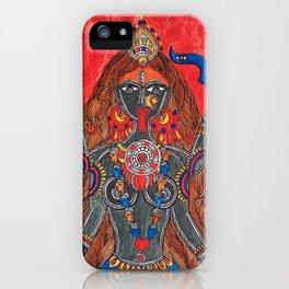 Kaali-The Fierce Form iPhone Case