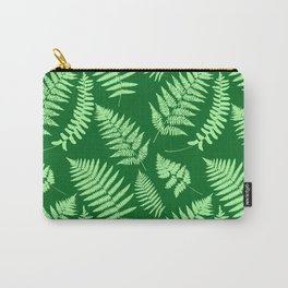Woodland Fern Pattern, Light Green and  Emerald Carry-All Pouch