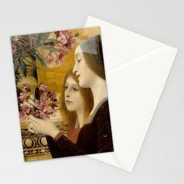 "Gustav Klimt ""Two Girls With An Oleander"" Stationery Cards"