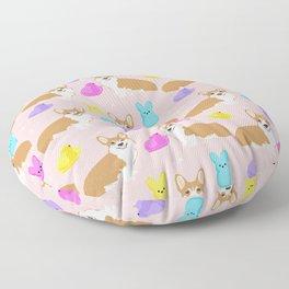 Corgi peeps easter marshmallow spring traditions dog breed welsh corgi Floor Pillow