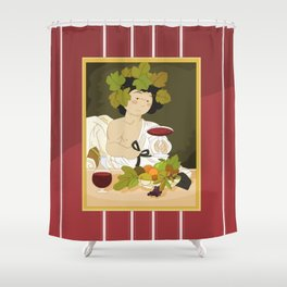 Bacco by Caravaggio Shower Curtain