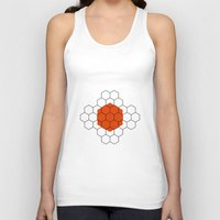 hexagon Tank Tops featuring HEXAGON by KARNATARKA