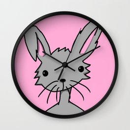 Bunnybutt Bitch | Veronica Nagorny Wall Clock