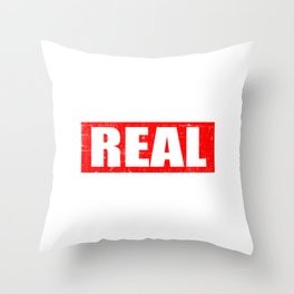 """A Real Tee For The Bossy You Saying """"The Real Boss"""" T-shirt Design Administrator Chief Director Throw Pillow"""