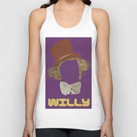 roald dahl Tank Tops featuring Willy Wonka and you by Ally Simmons