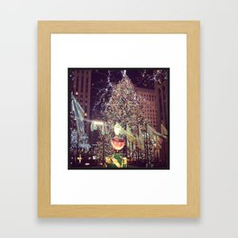 Christmas in the City Framed Art Print