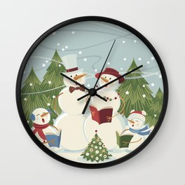 Christmas Song / Snowmen Wall Clock