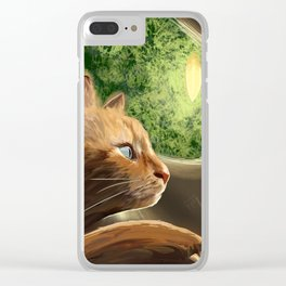 What do cats do at night? Clear iPhone Case
