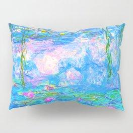 Monet Water Lilies - Pastel Fluro Pillow Sham