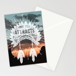 Your Vibe Attracts Your Tribe - Monument Valley Stationery Cards