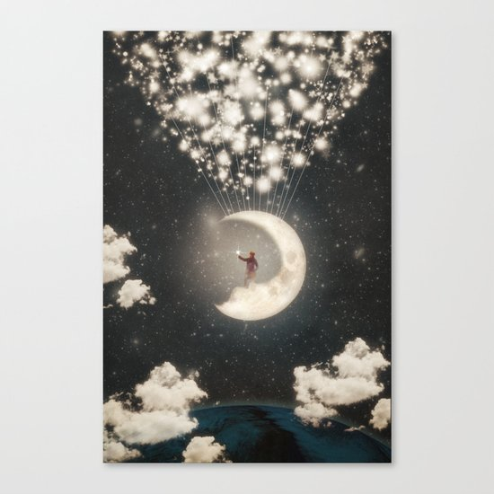The Big Journey of the Man on the Moon  Canvas Print
