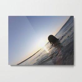 Girl in water Metal Print