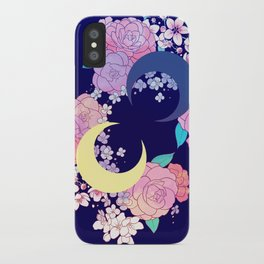 Floral Moon iPhone Case