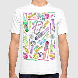 Neon 80's 90's Retro Funny Candy Pattern T-shirt