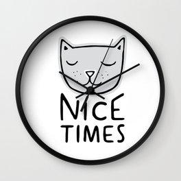 Nice Times Cat Wall Clock
