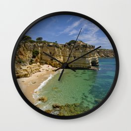 Small cove on the Algarve, Portugal Wall Clock