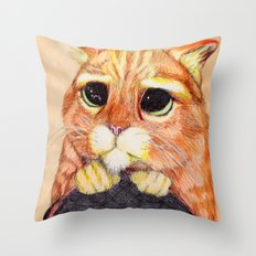 Puss In Boots. Throw Pillow