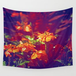 Sun Kissed Maroon Wall Tapestry