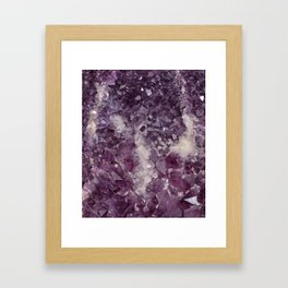 Deep Purple Quartz Crystal Framed Art Print