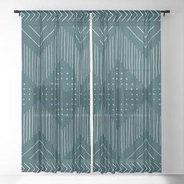 Teal Tribal Sheer Curtain