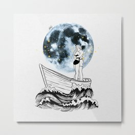 Night above the moon. Metal Print
