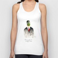 magritte Tank Tops featuring this is not a magritte by berg with ice