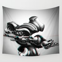 mouse Wall Tapestries featuring The Mouse by Herwig Scherabon