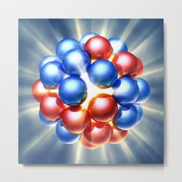 Nuclear fission Metal Print