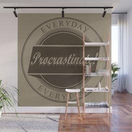 Procrastinate vintage logo Wall Mural