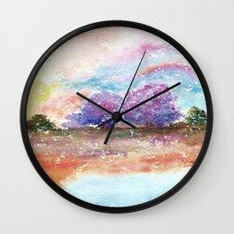 A Beautiful Day Watercolor Illustration Wall Clock