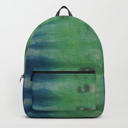 Tie Dye in Blue and Green 7 Backpack