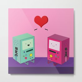 BMO & GMO Love Metal Print