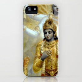 Lord Krishna Hindu Poster Yoga Buddhism Meditation Orient iPhone Case