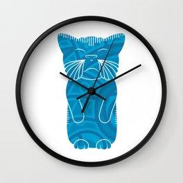 Tiki Cat Wall Clock