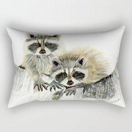Curious Cubs - raccoons, animals, wildlife, nature Rectangular Pillow