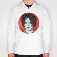 jack white Hoodies featuring Jack White by Sosha Krosley