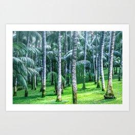 Coconut Trees Artwork Art Print