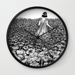 The Field of Poppies Wall Clock